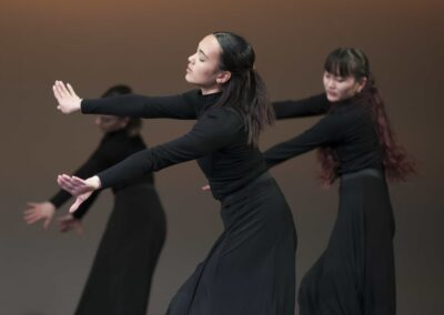 Rambert performers on stage performing ballet
